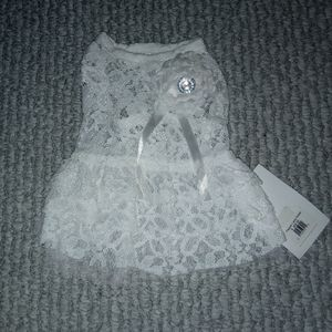 NWT White Lace Dog Outfit